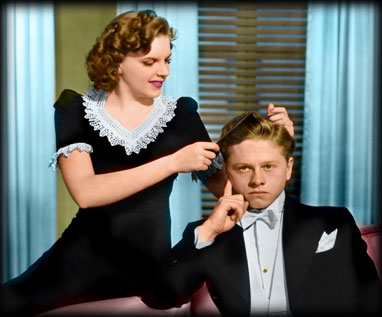 Judy Garland and Mickey Rooney