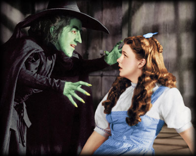 Judy Garland and The Wicked Witch of the West